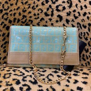 Fendi patent wallet clutch